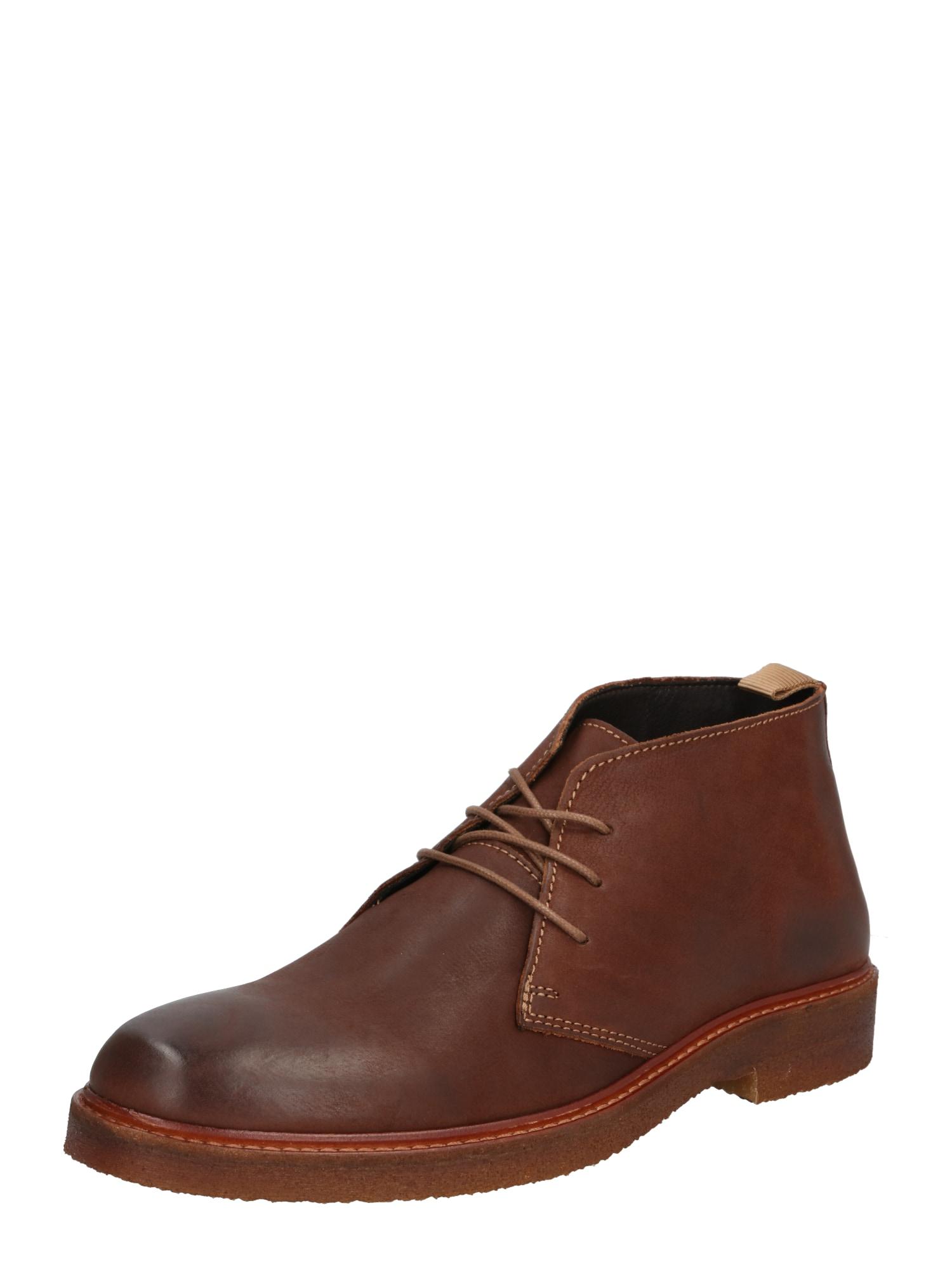 ABOUT YOU Auliniai batai su raišteliais 'Bruno' ruda (konjako)