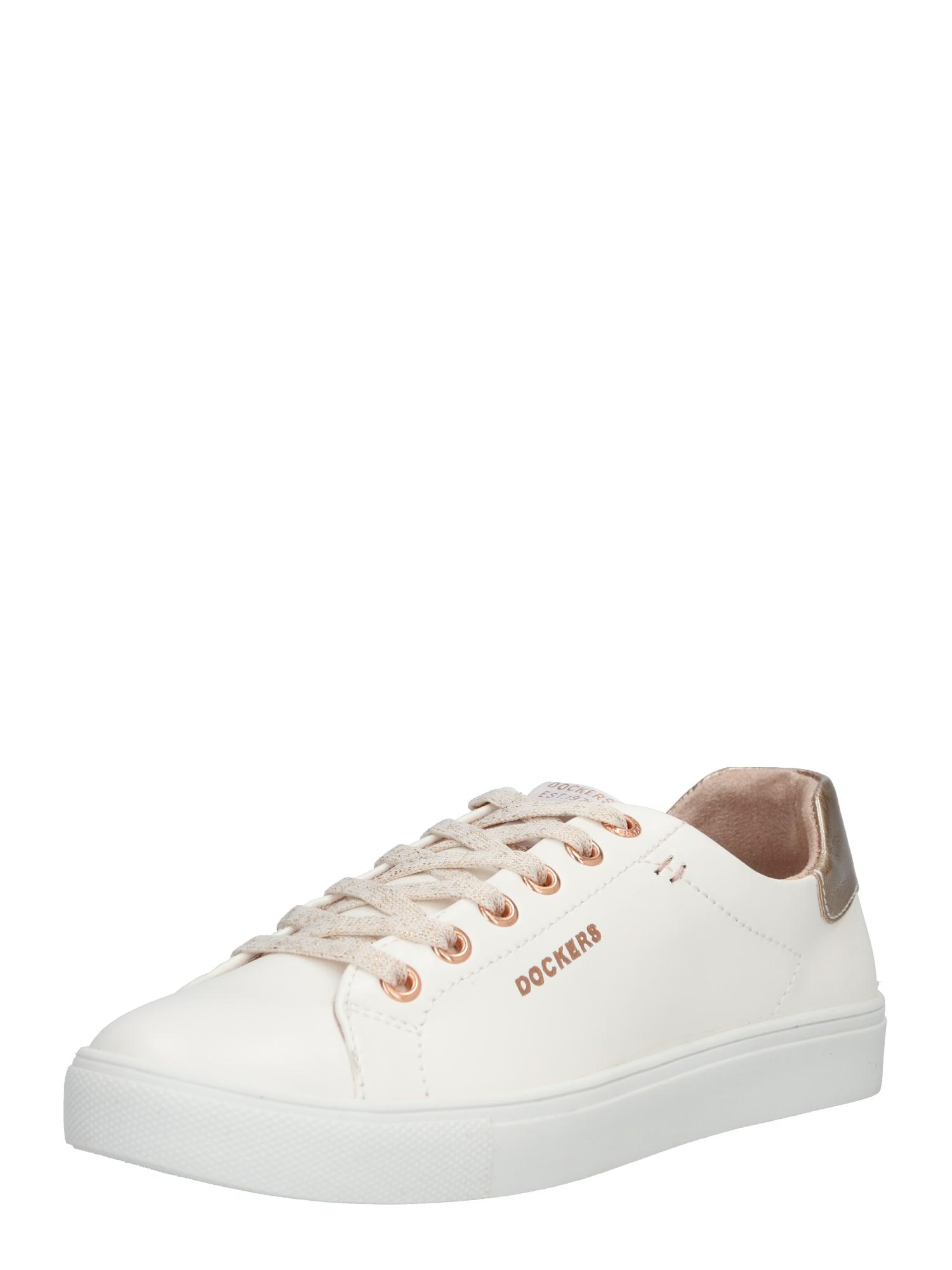 Tenisky Sneaker zlatá růže bílá Dockers By Gerli