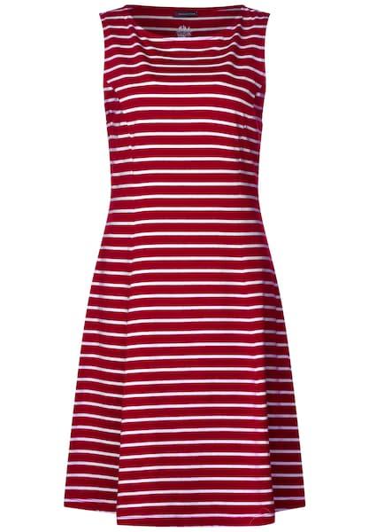 Kleider für Frauen - STREET ONE Kleid rot weiß  - Onlineshop ABOUT YOU