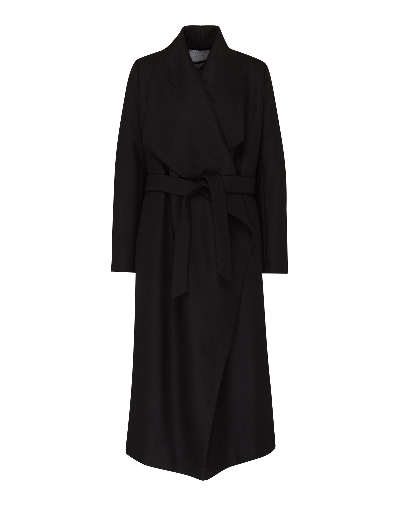 IVY & OAK Rudeninis-žieminis paltas 'Bathrobe' juoda