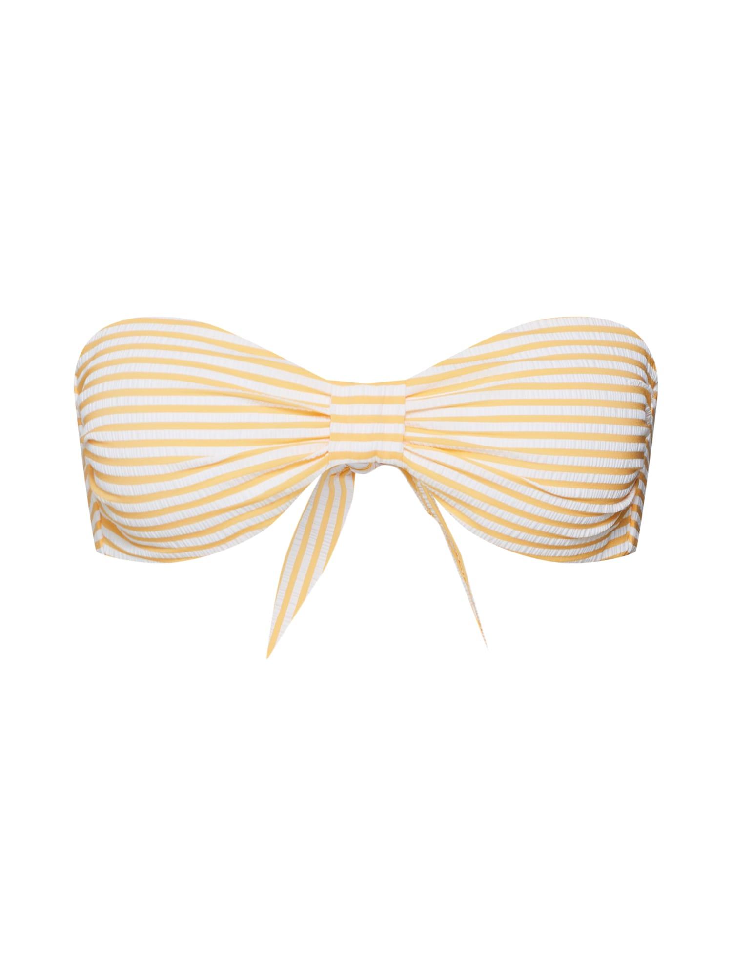 ABOUT YOU Bikinio viršutinė dalis 'Jolina' geltona / balta