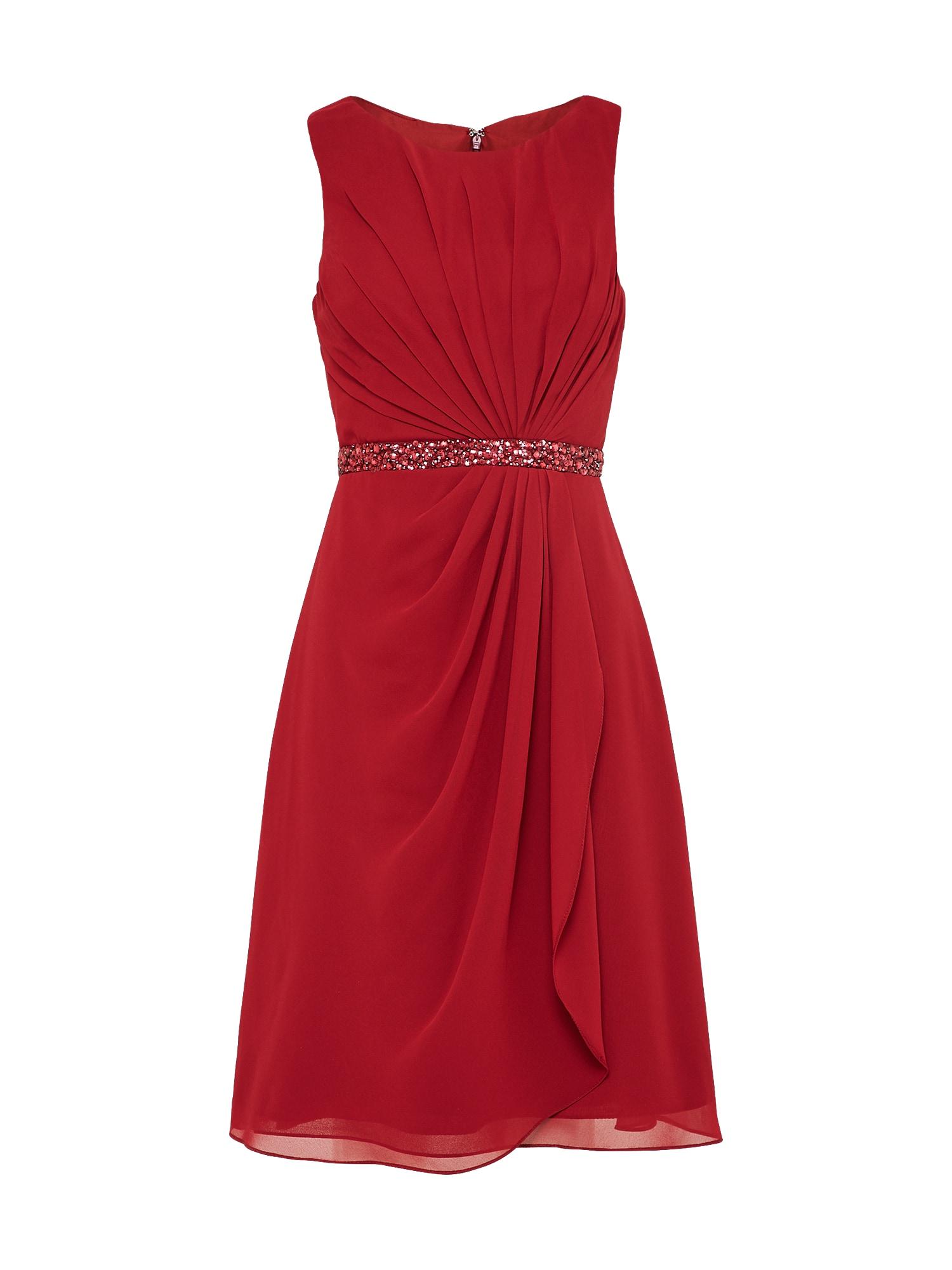 mascara Kokteilinė suknelė vyšninė spalva