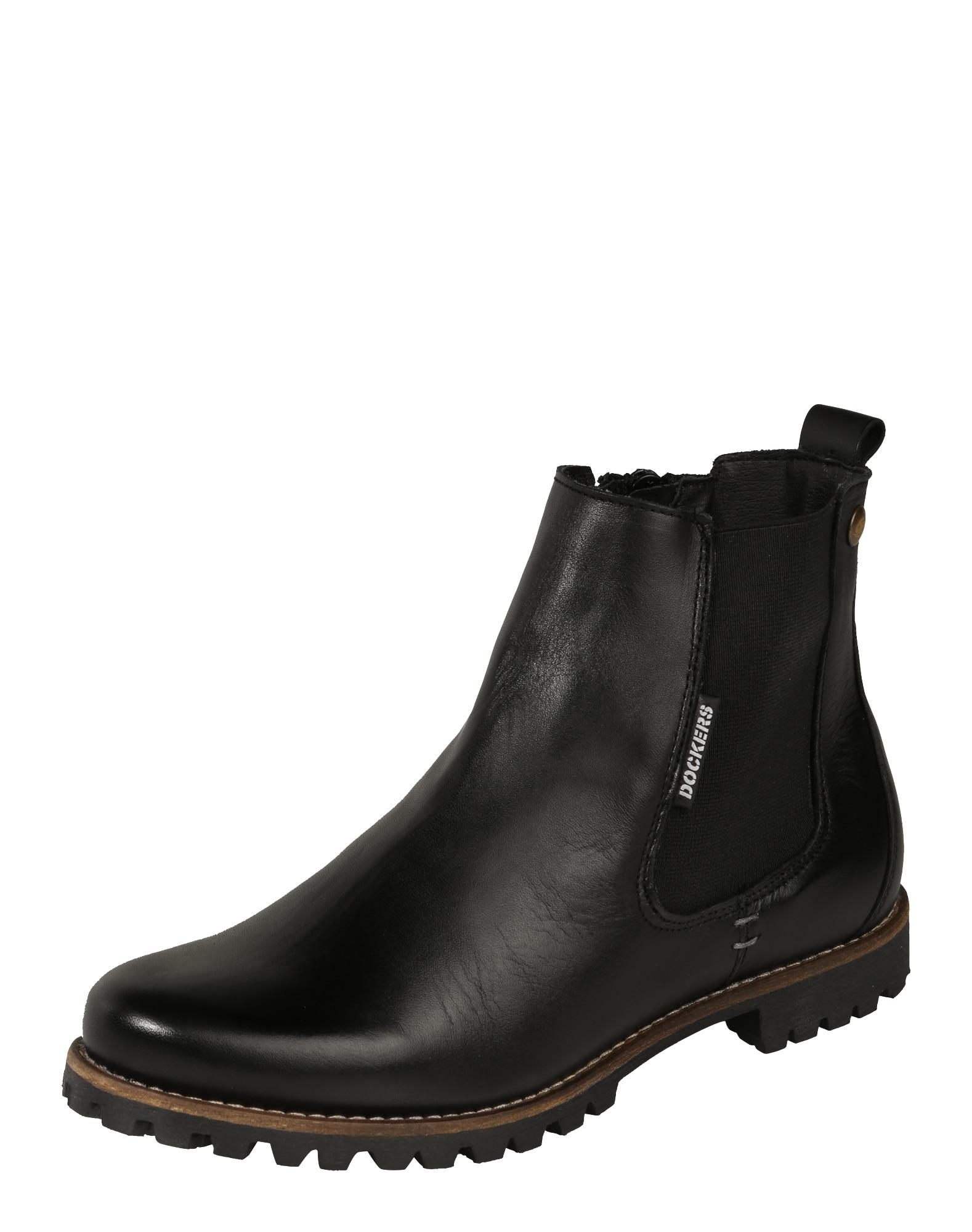 Chelsea boty černá Dockers By Gerli
