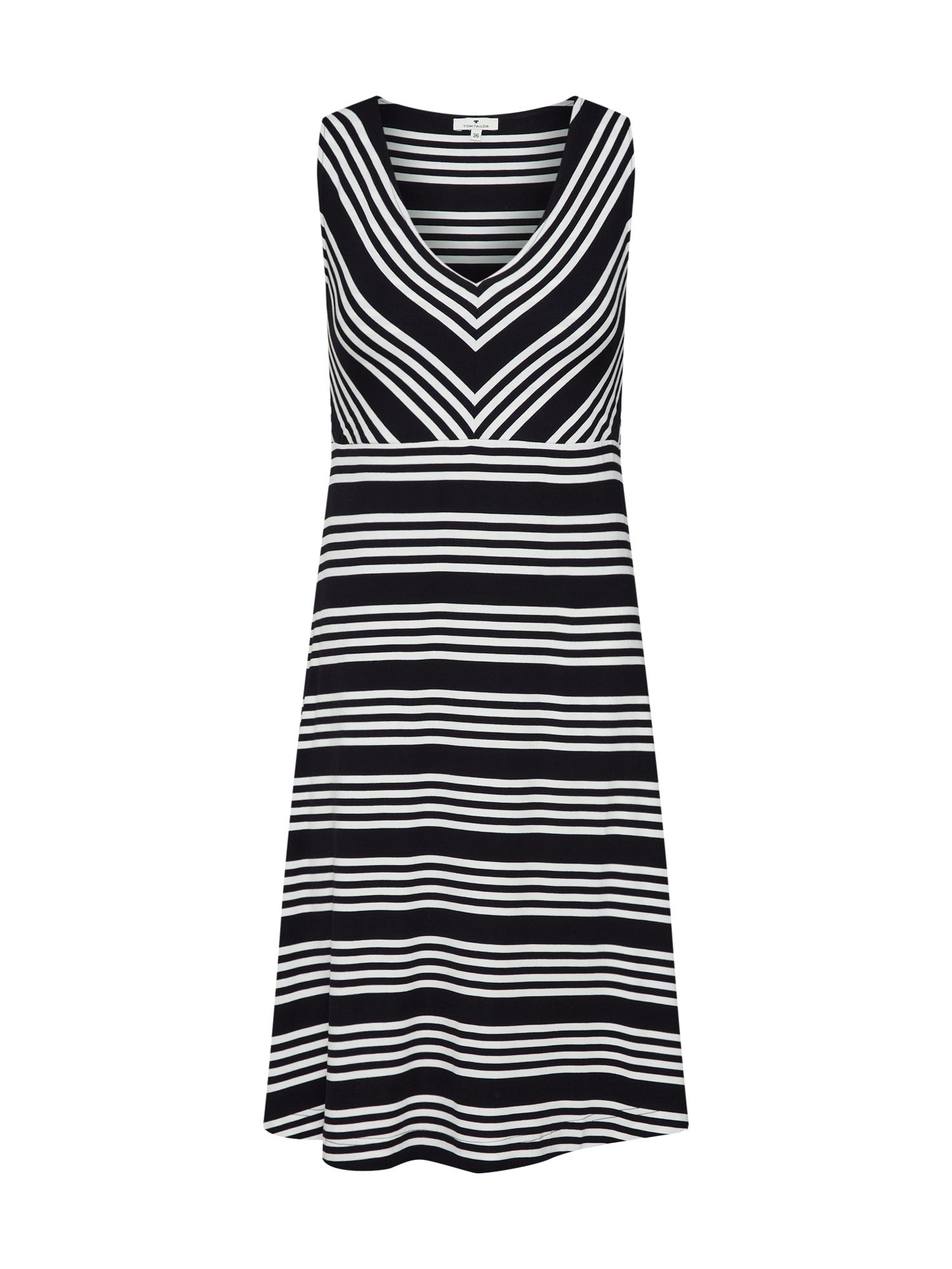 Letní šaty černá bílá TOM TAILOR