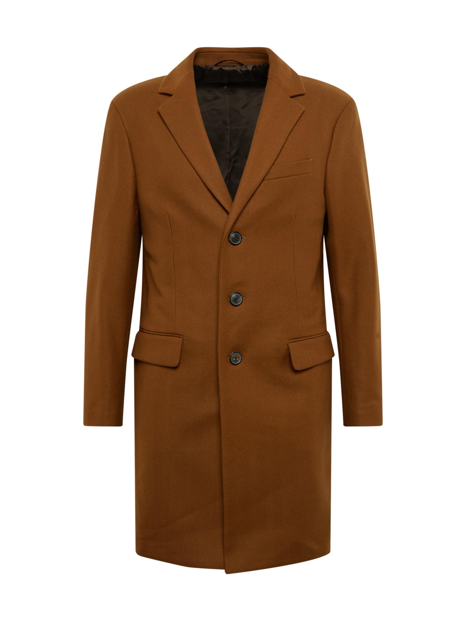 Banana Republic Rudeninis-žieminis paltas 'WOOL CASHMERE BLEND HERRINGBONE TOPCOAT' ruda