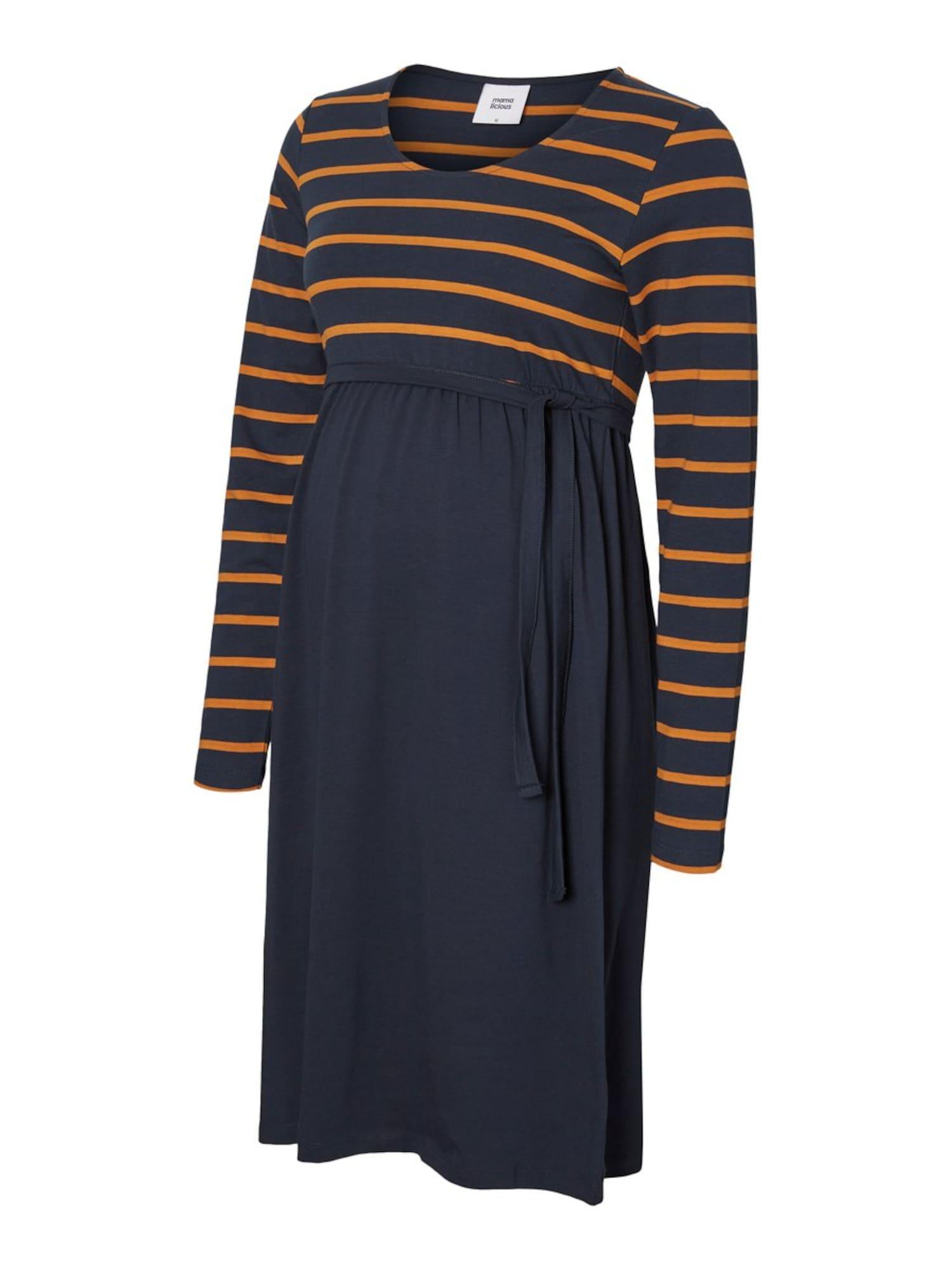 MAMALICIOUS Suknelė nakties mėlyna / oranžinė
