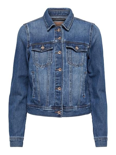 Jacken für Frauen - ONLY Dunkle Jeansjacke blau  - Onlineshop ABOUT YOU