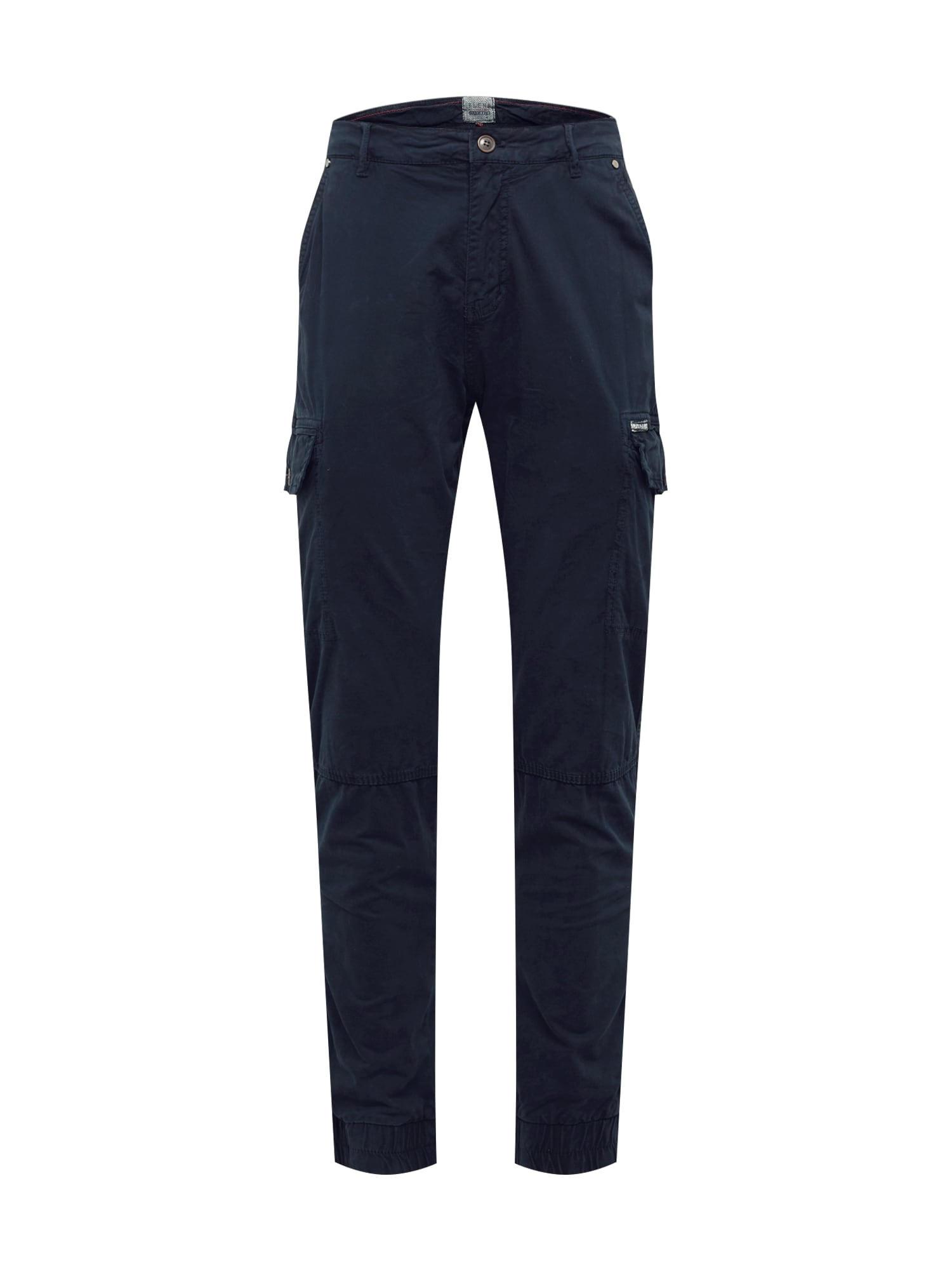 BLEND Laisvo stiliaus kelnės tamsiai mėlyna