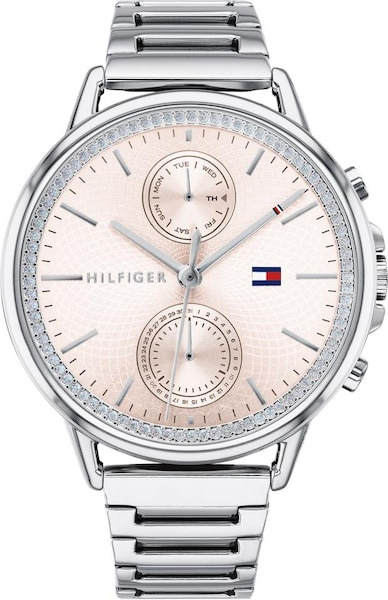 Uhren für Frauen - TOMMY HILFIGER Multifunktionsuhr 'DRESSED UP' rosé silber  - Onlineshop ABOUT YOU