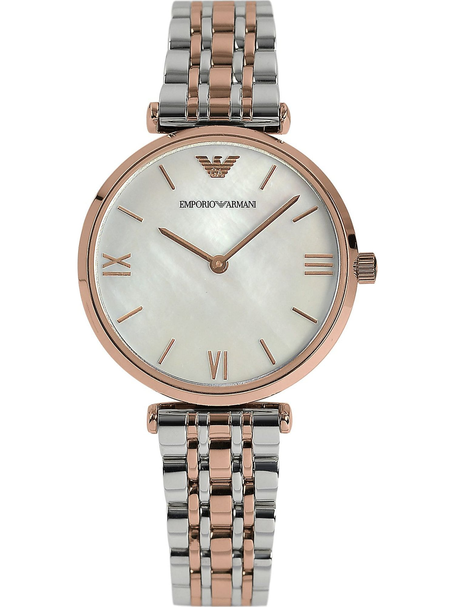 Emporio Armani Analoginis (įprasto dizaino) laikrodis rožinio aukso spalva / sidabrinė