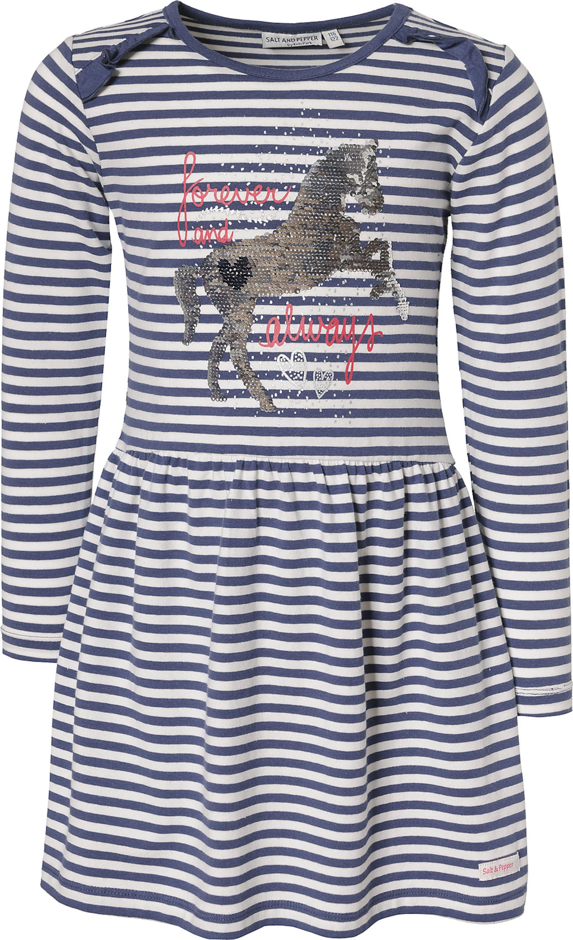 Kinder,  Mädchen,  Kinder SALT AND PEPPER Kleid blau,  weiß | 04061386044664