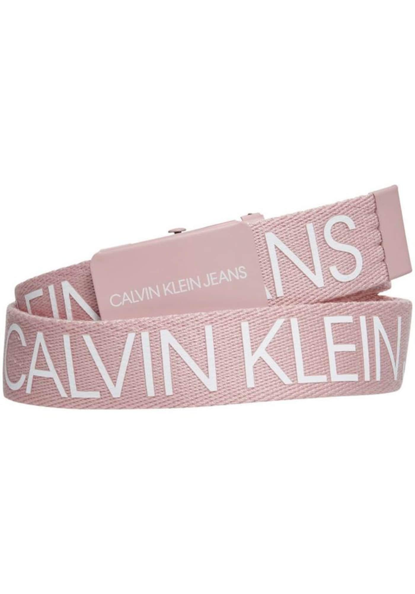Calvin Klein Jeans Diržas balta / rožinė