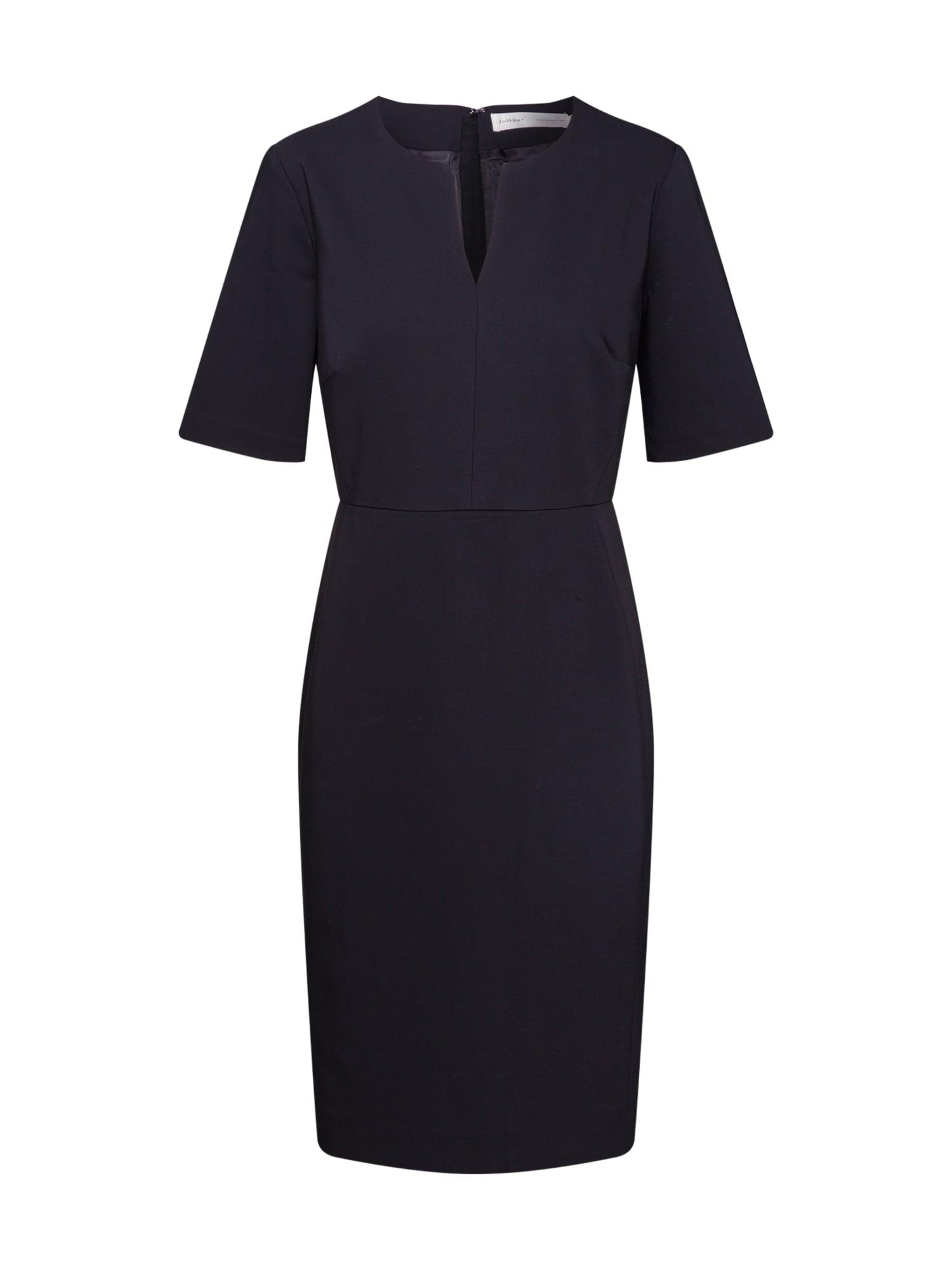 InWear Trumpa kokteilinė suknelė 'Zella' juoda