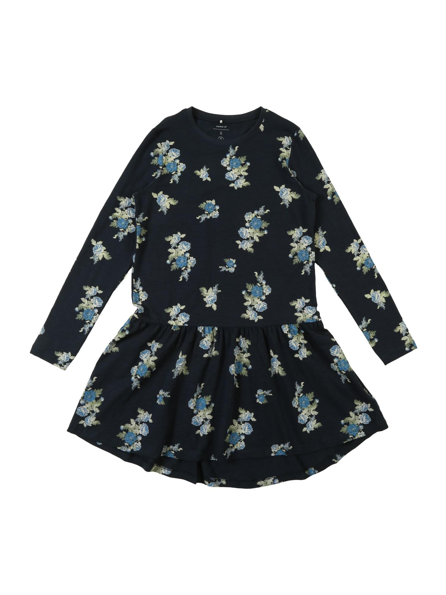 Šaty BILLA modrá námořnická modř NAME IT