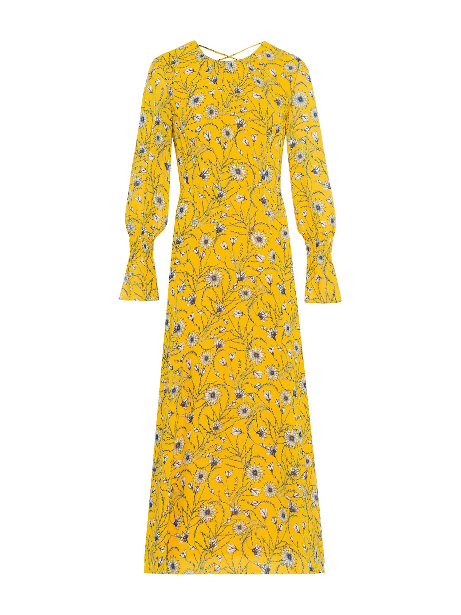 Letní šaty Chiffon Midi Dress žlutá mix barev IVY & OAK