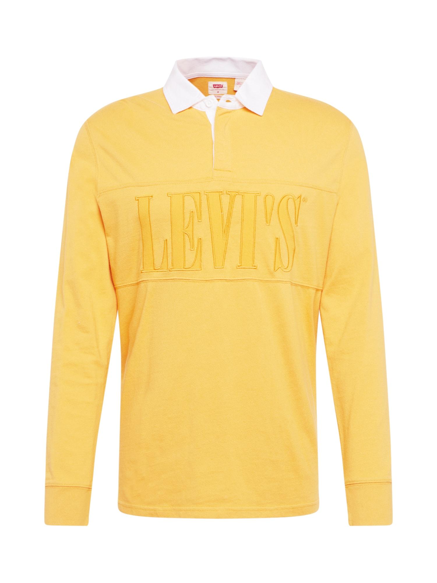 LEVI'S Marškinėliai 'AUTHENTIC PIECED RUGBY' geltona
