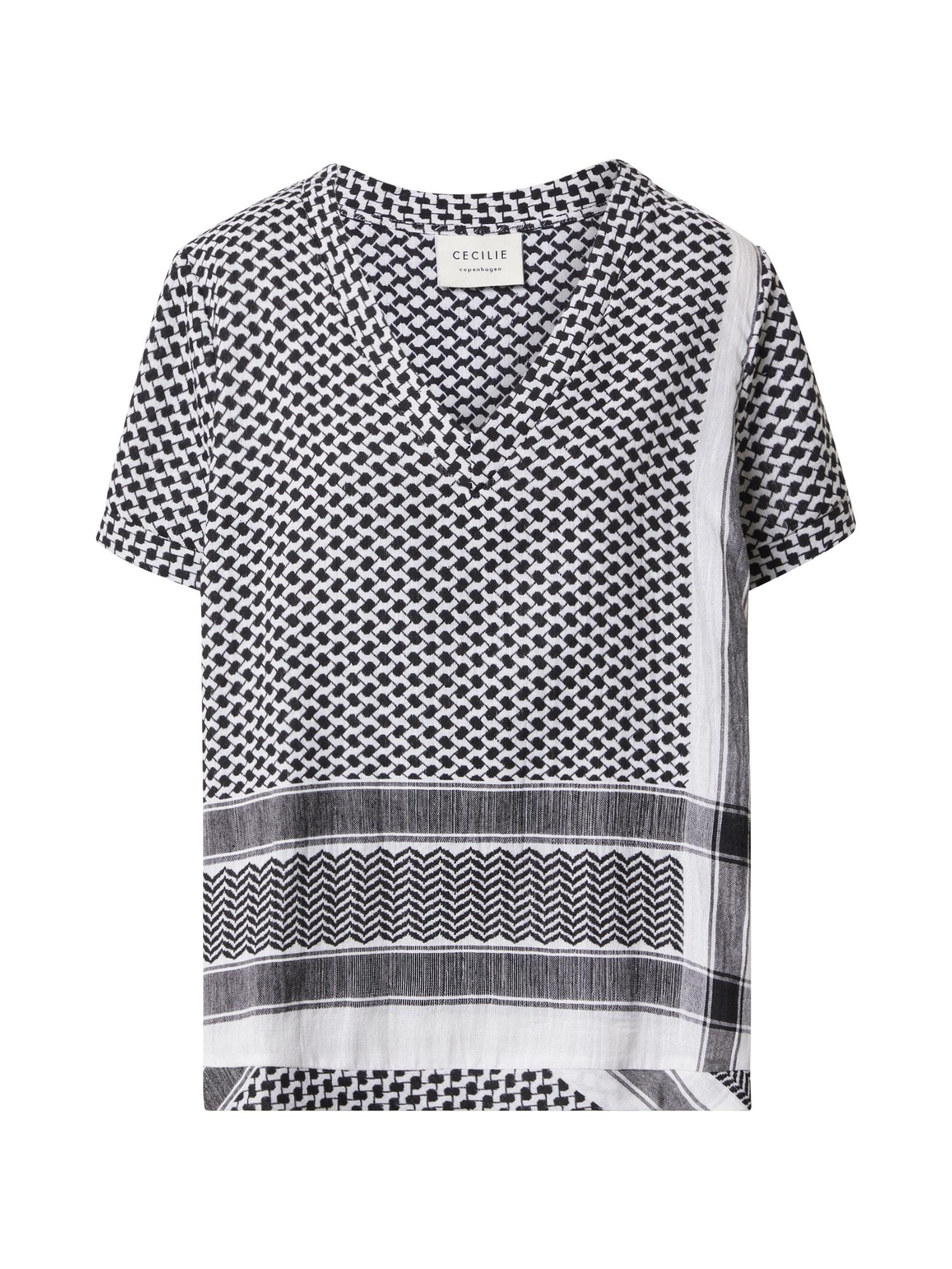 Cecilie Copenhagen Marškinėliai balta / juoda