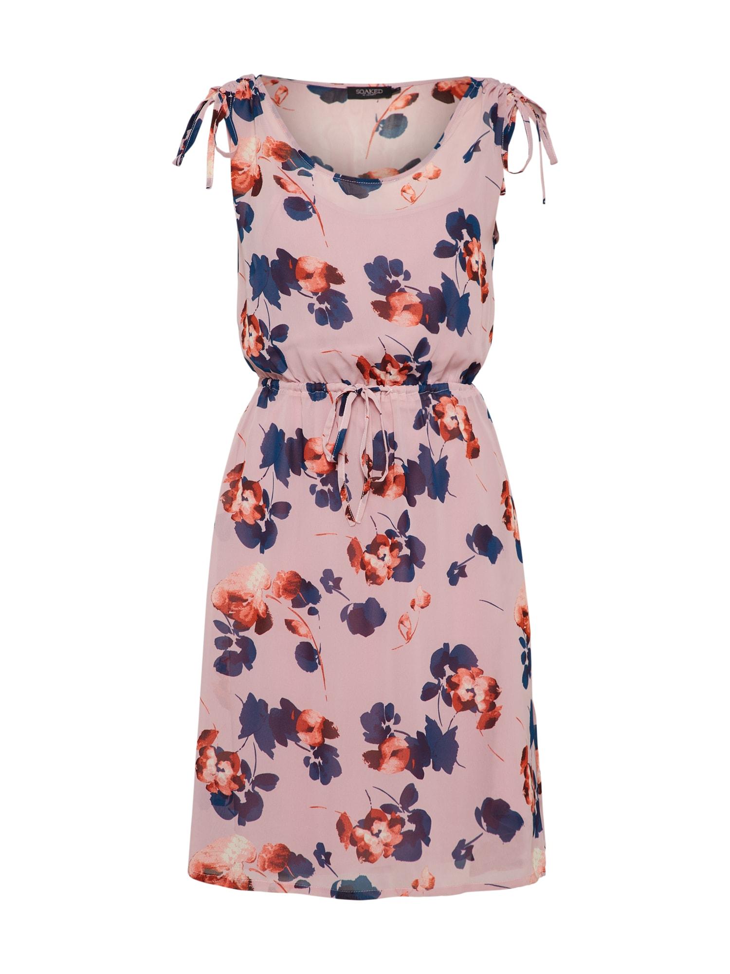 Letní šaty Silene modrá růžová SOAKED IN LUXURY