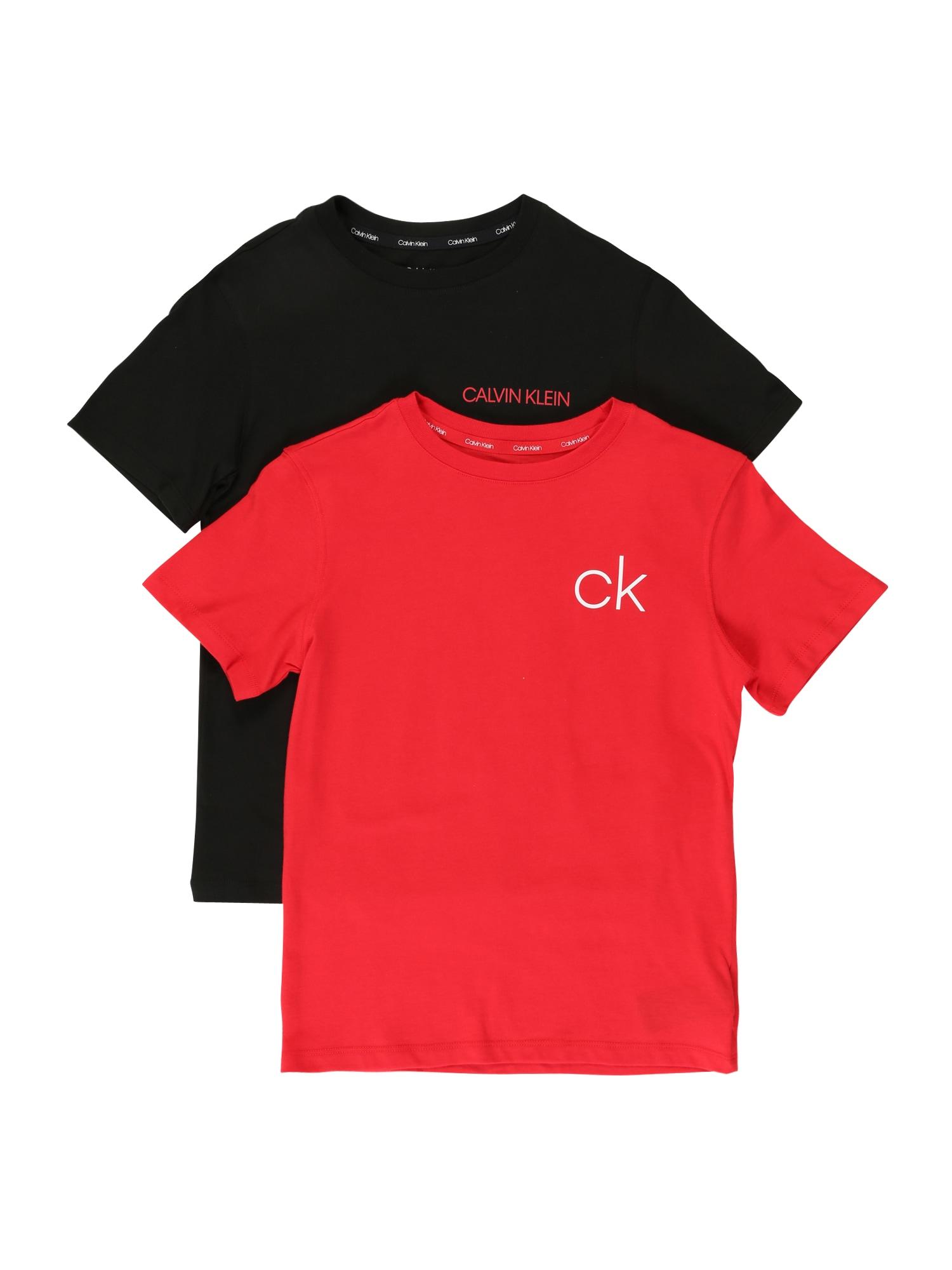 Calvin Klein Underwear Miego kostiumas raudona / juoda