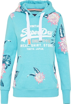 Superdry Sweatshirt 'SHOP AOP HOOD'