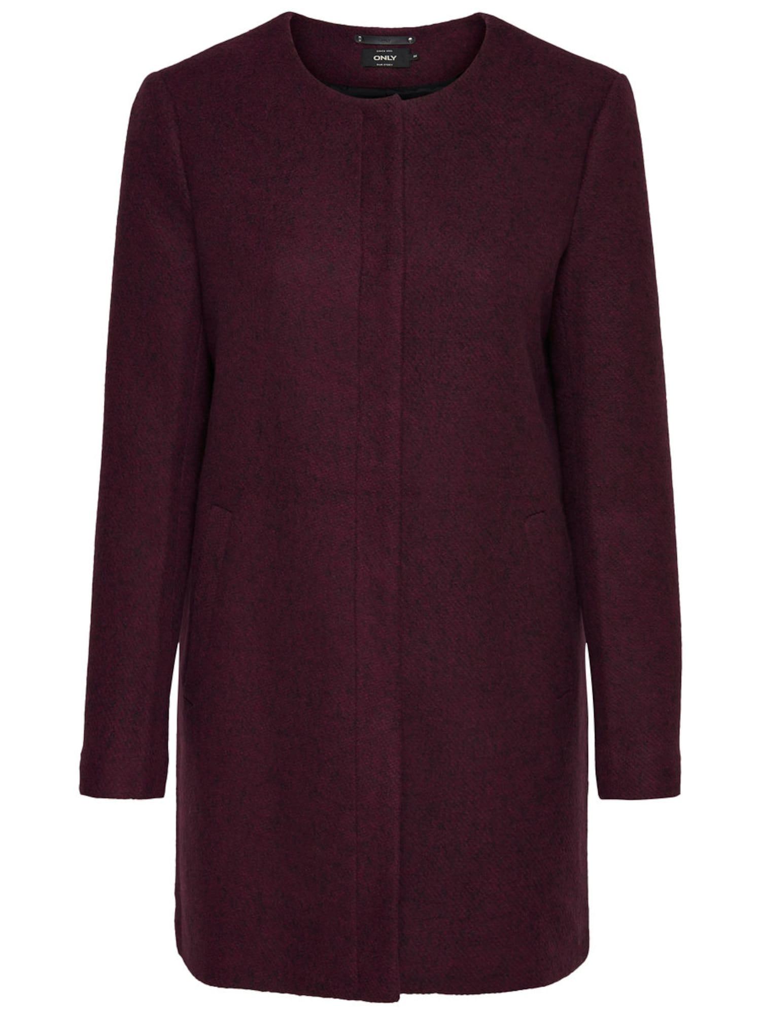 ONLY Přechodný kabát  vínově červená