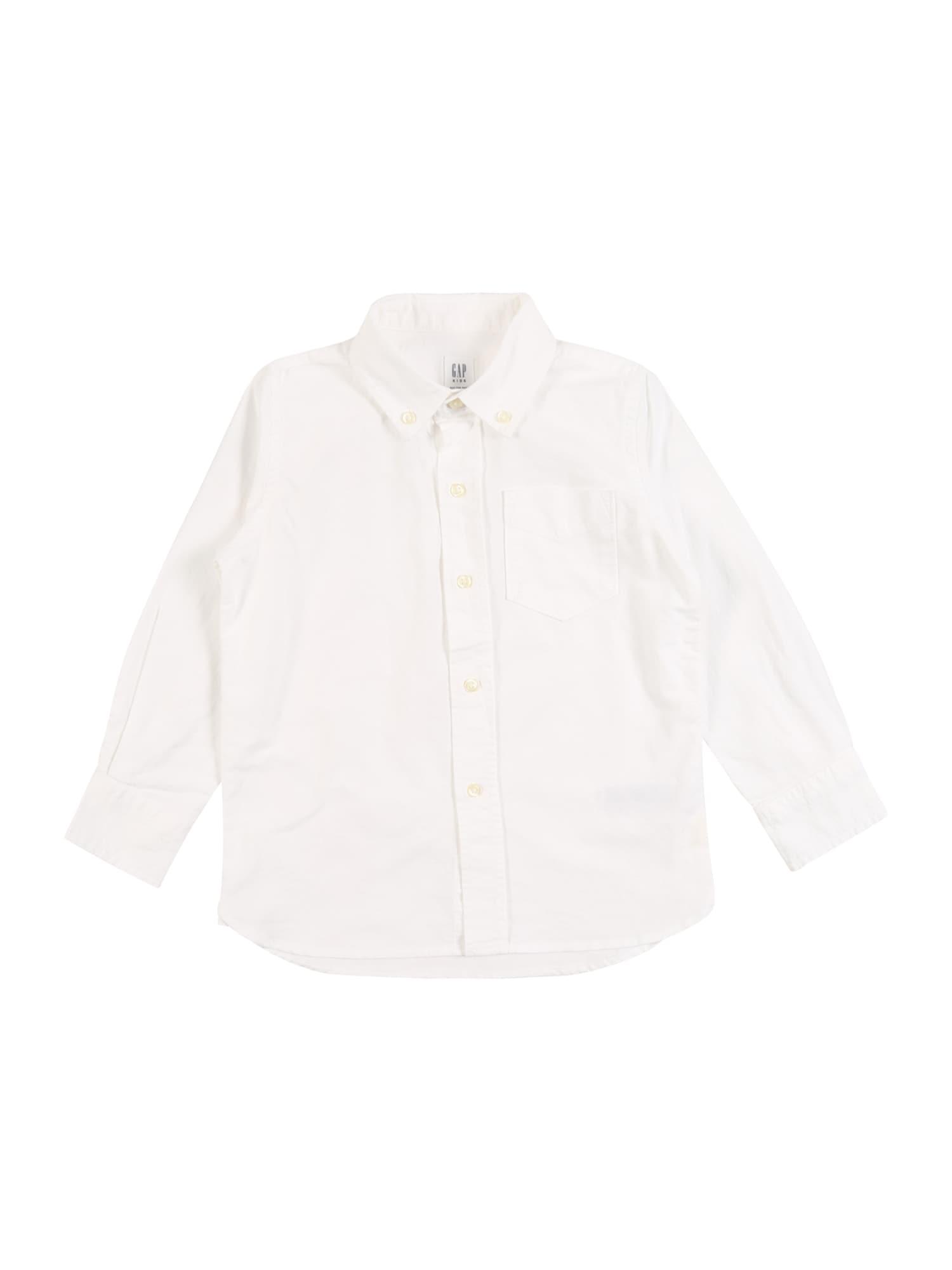 GAP Dalykiniai marškiniai 'LS BAS OXFORD' balta