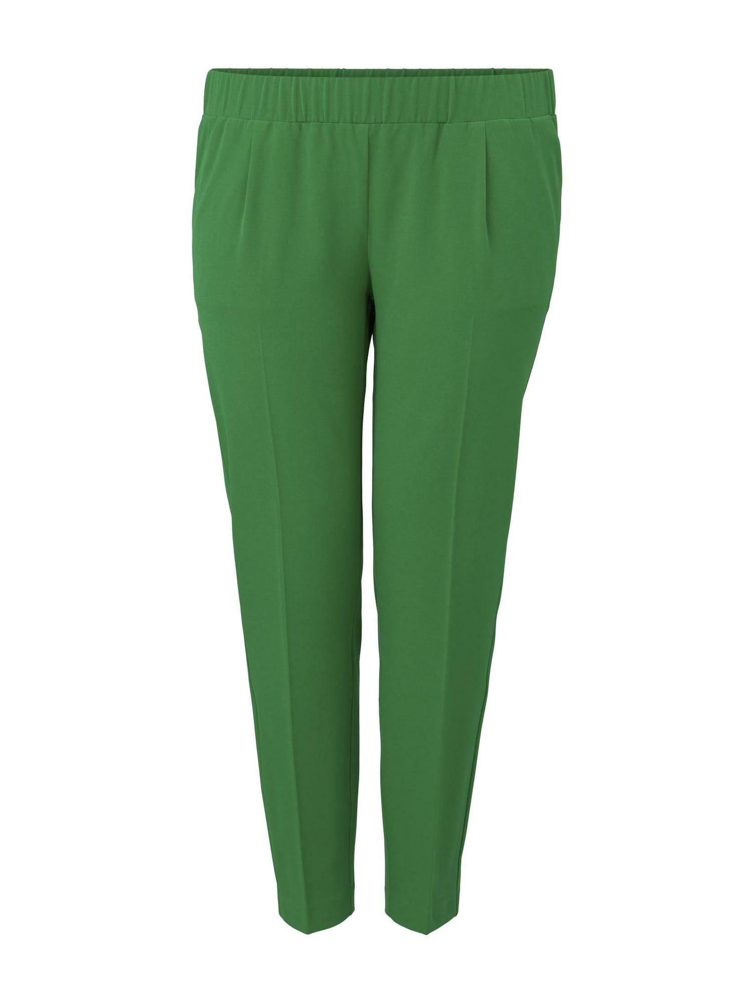 MY TRUE ME Kelnės su kantu žalia