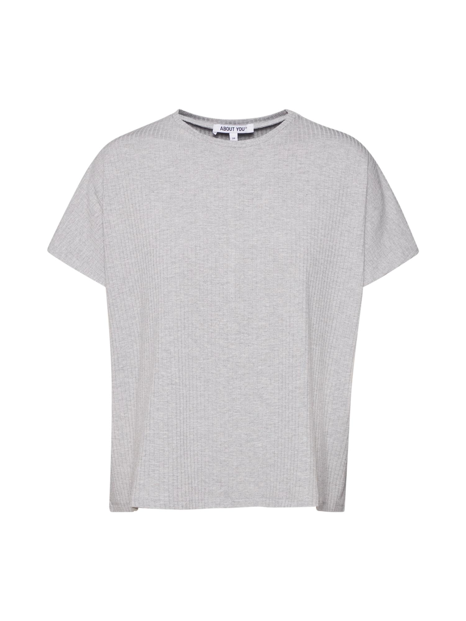 ABOUT YOU Marškinėliai 'Cora' margai pilka