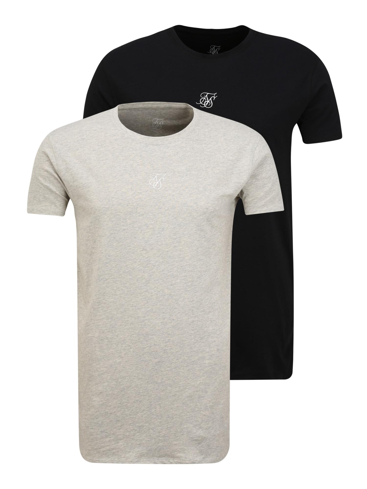 SikSilk Marškinėliai pilka / juoda