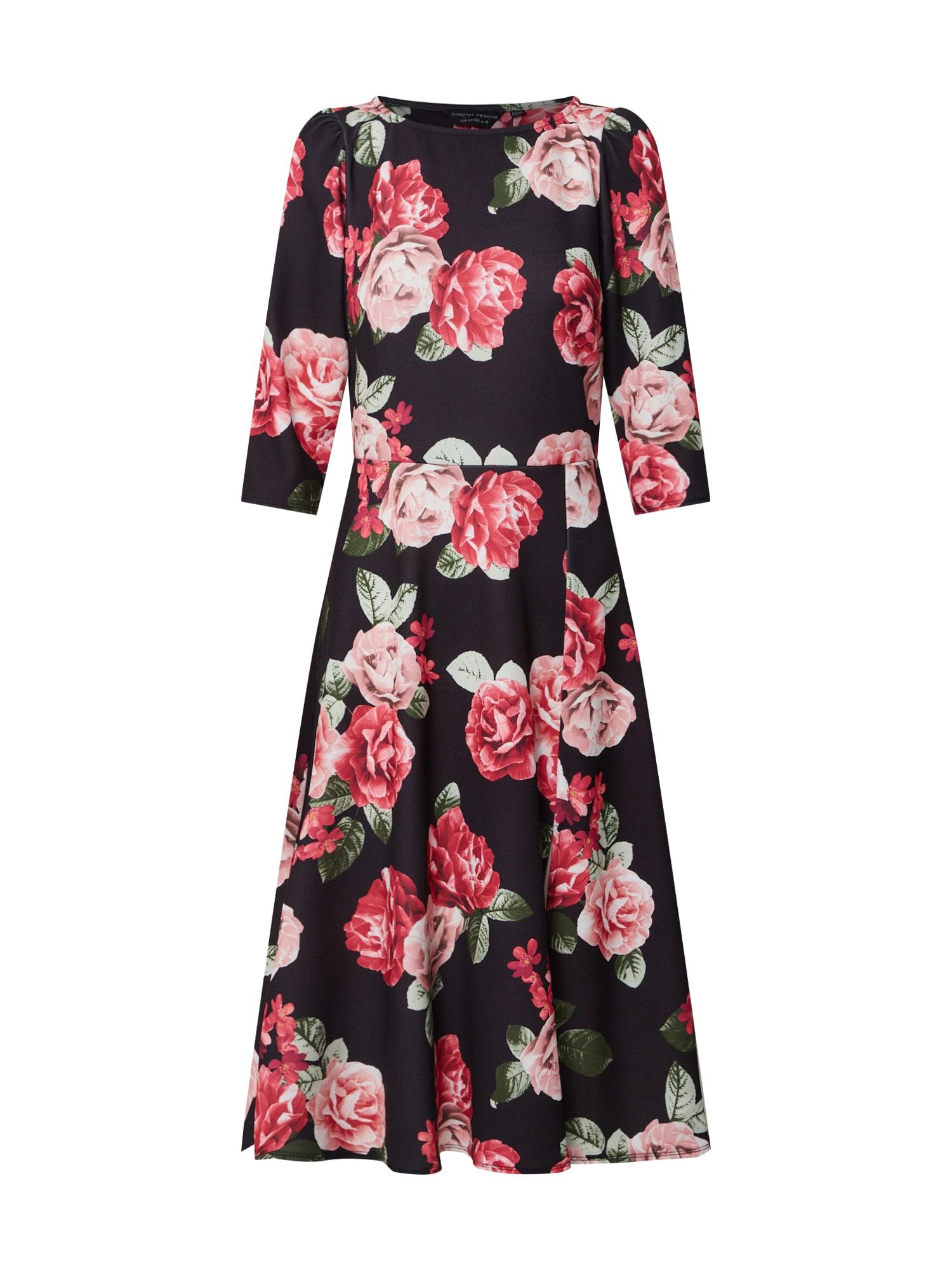 Dorothy Perkins Suknelė 'Black Rose' juoda / rožių spalva