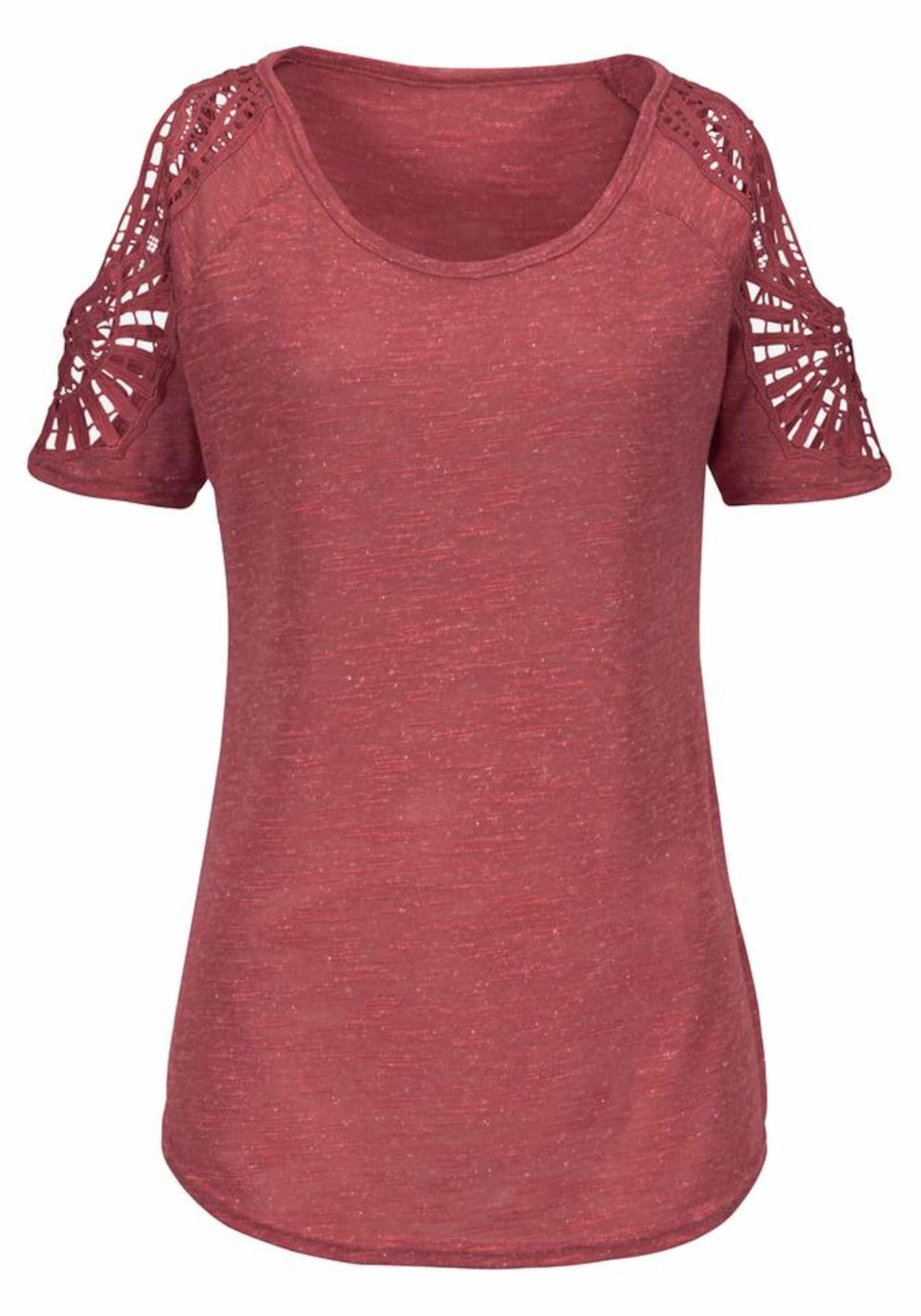 VIVANCE Marškinėliai vyšninė spalva