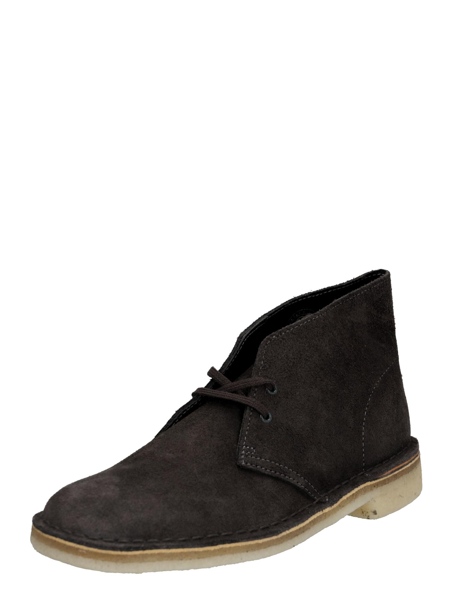 Šněrovací boty DESERT BOOT tmavě šedá Clarks Originals