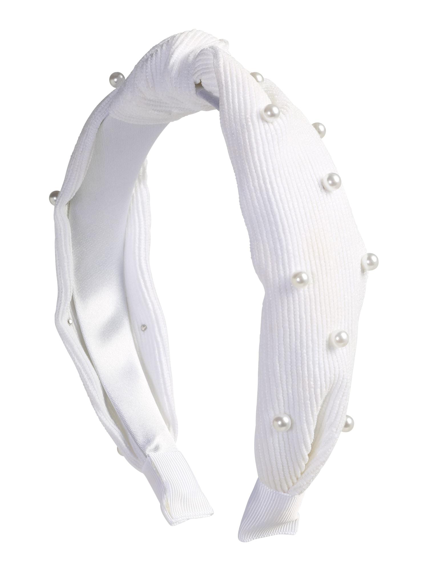 ABOUT YOU Plaukų papuošalas 'Kimberly' perlų balta