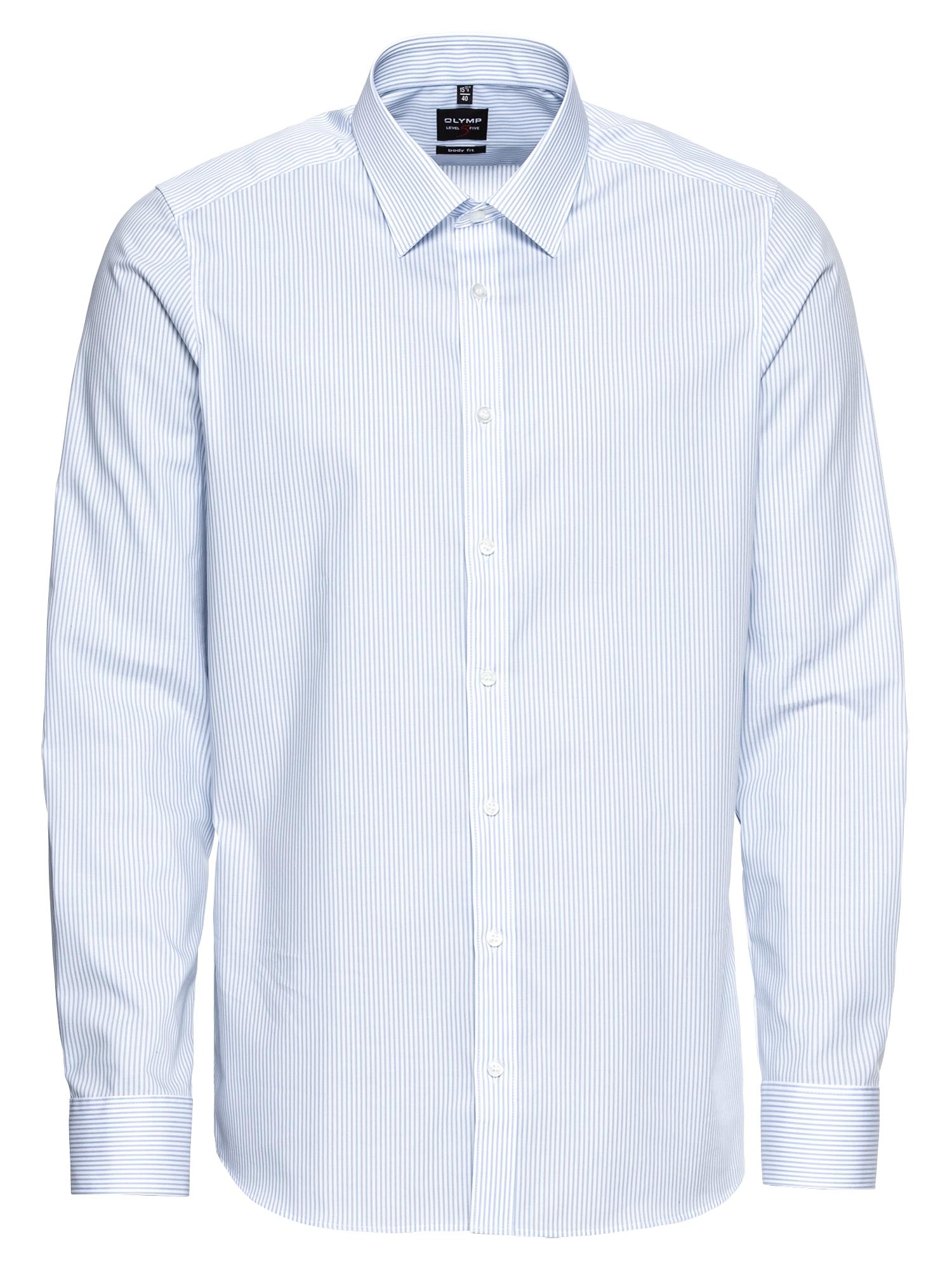 Společenská košile Level 5 Zündholstr. modrá bílá OLYMP