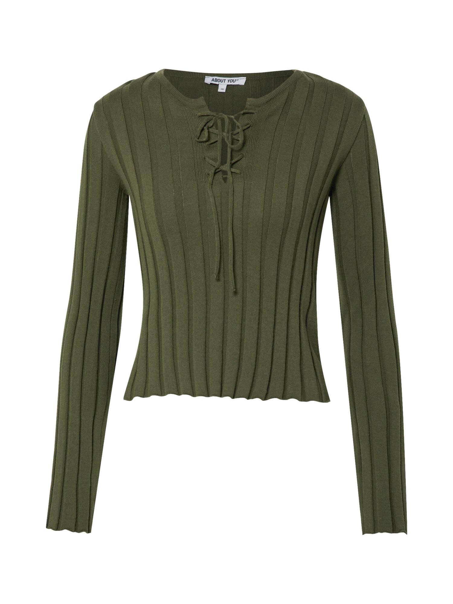ABOUT YOU Marškinėliai 'Inola' tamsiai žalia