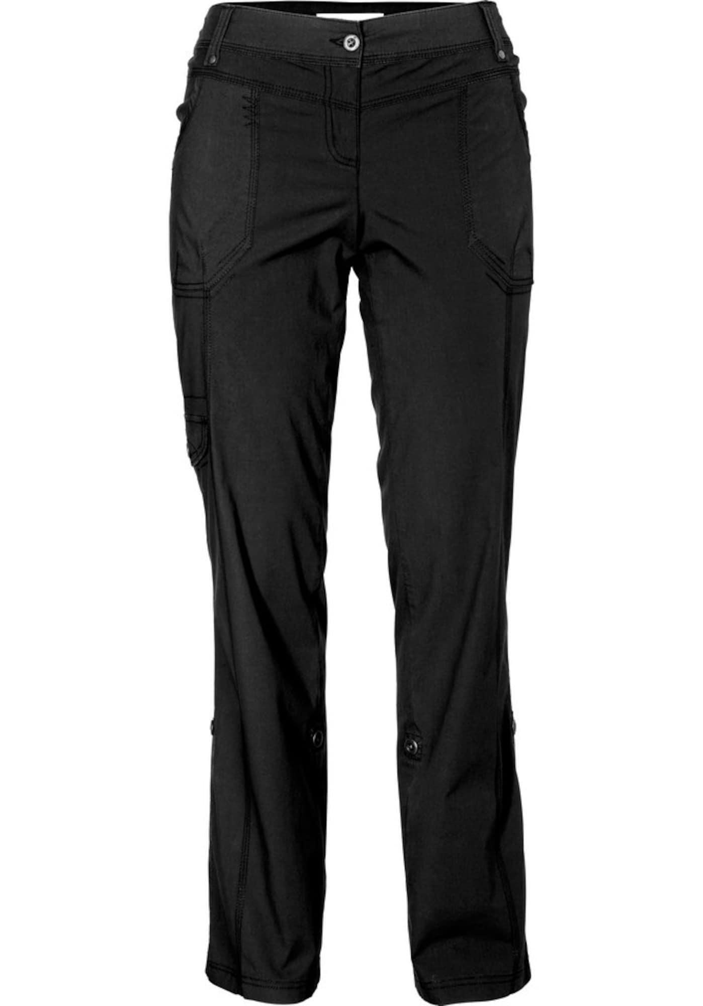 SHEEGO Laisvo stiliaus kelnės juoda