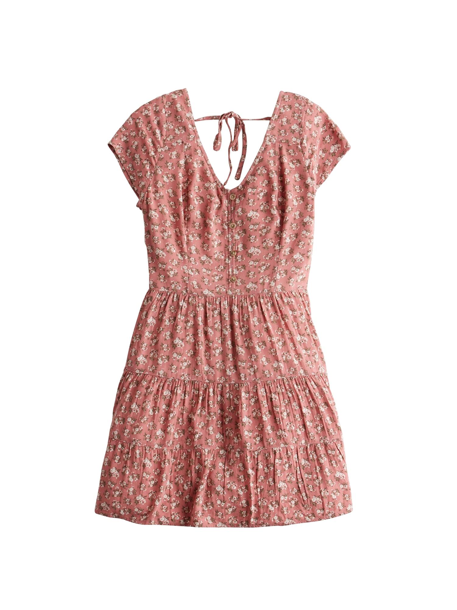 HOLLISTER Vasarinė suknelė 'TIERED' rožinė