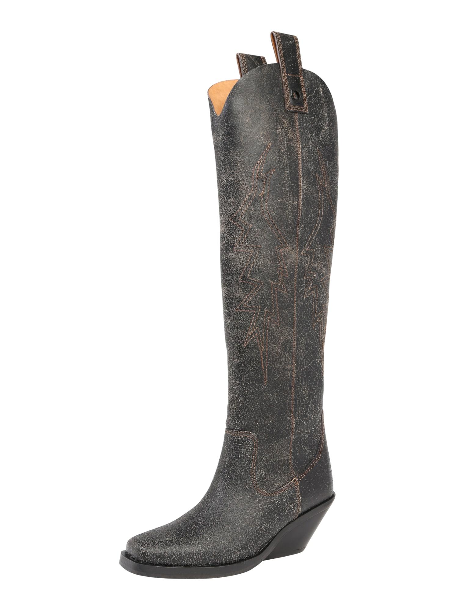 Kovbojské boty D-Giudecca MHB černá DIESEL