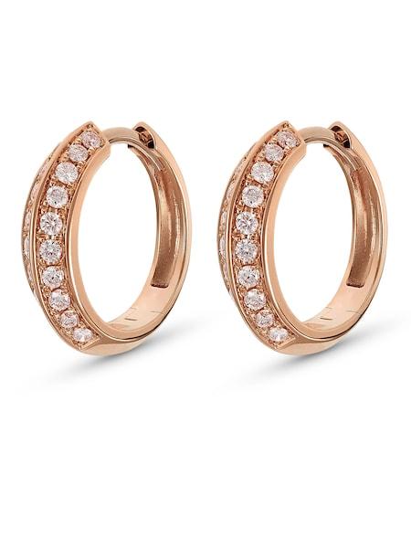 Ohrringe für Frauen - CHRIST Creole '87555909' rosegold transparent  - Onlineshop ABOUT YOU