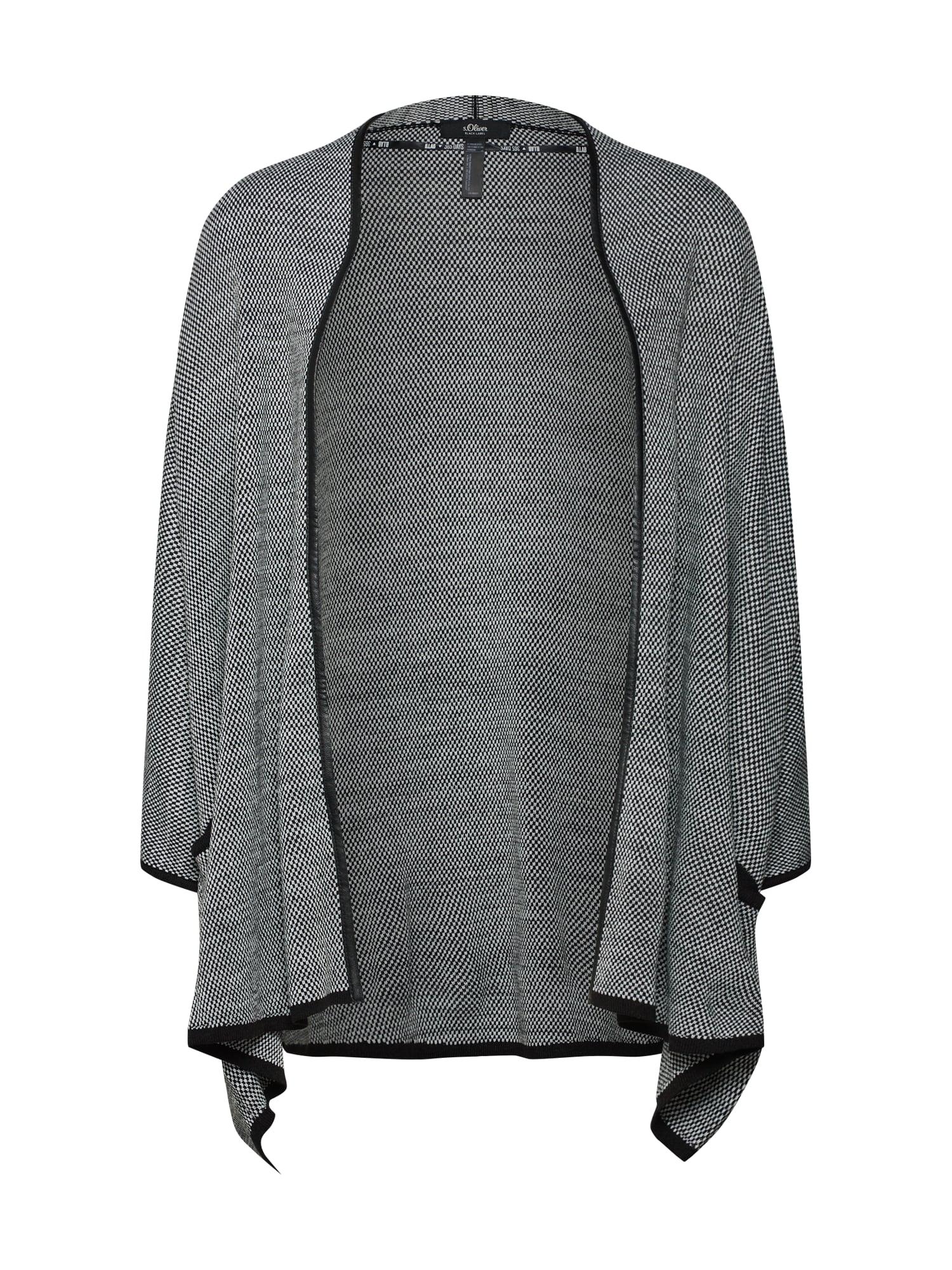 Oversized kardigan šedý melír černá S.Oliver BLACK LABEL