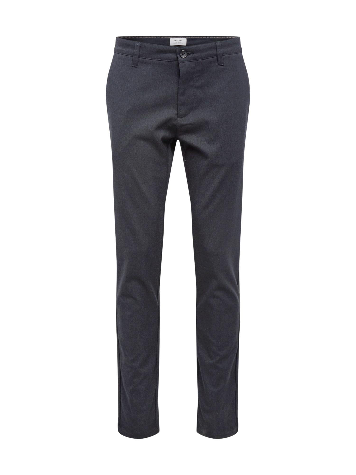 Only & Sons Kalhoty se sklady v pase  tmavě modrá