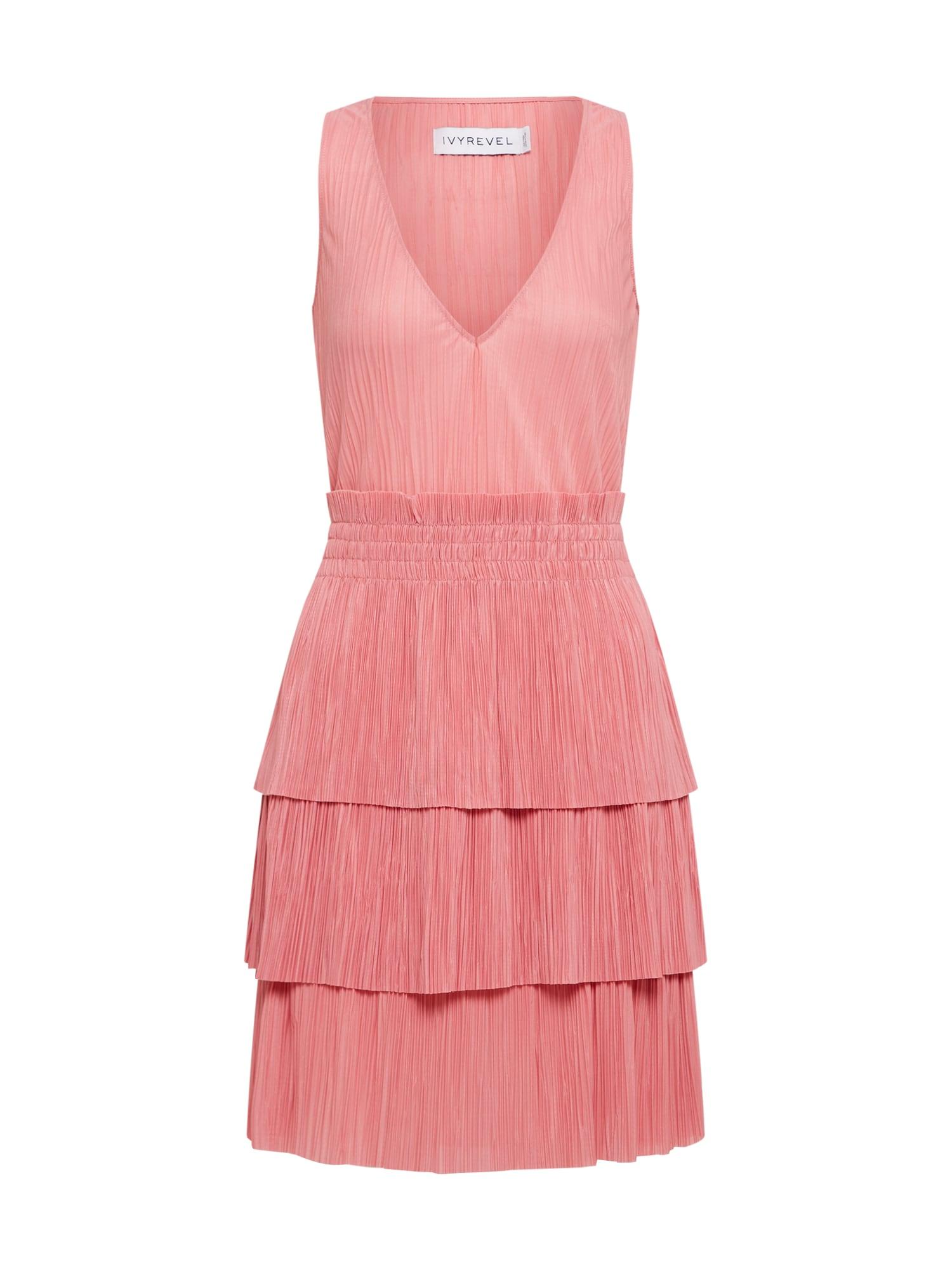 Koktejlové šaty LUNA  růžová IVYREVEL
