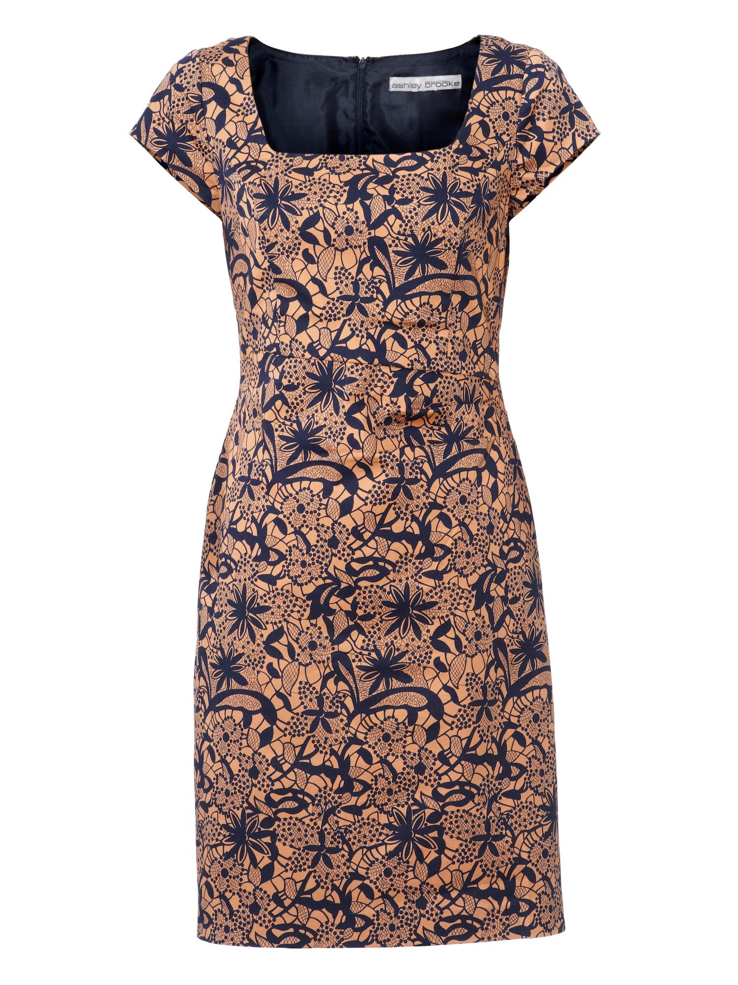 Pouzdrové šaty světle béžová námořnická modř Heine