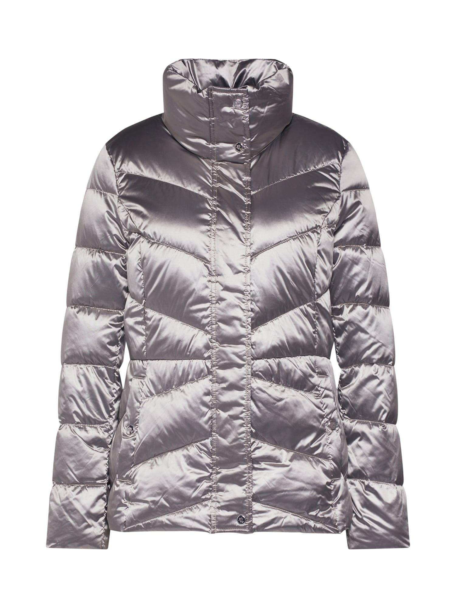 Přechodná bunda MTL PACKABLE-JACKET stříbrná Lauren Ralph Lauren