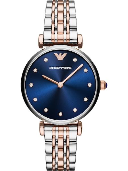 Uhren für Frauen - Emporio Armani Quarzuhr blau rosegold silber  - Onlineshop ABOUT YOU