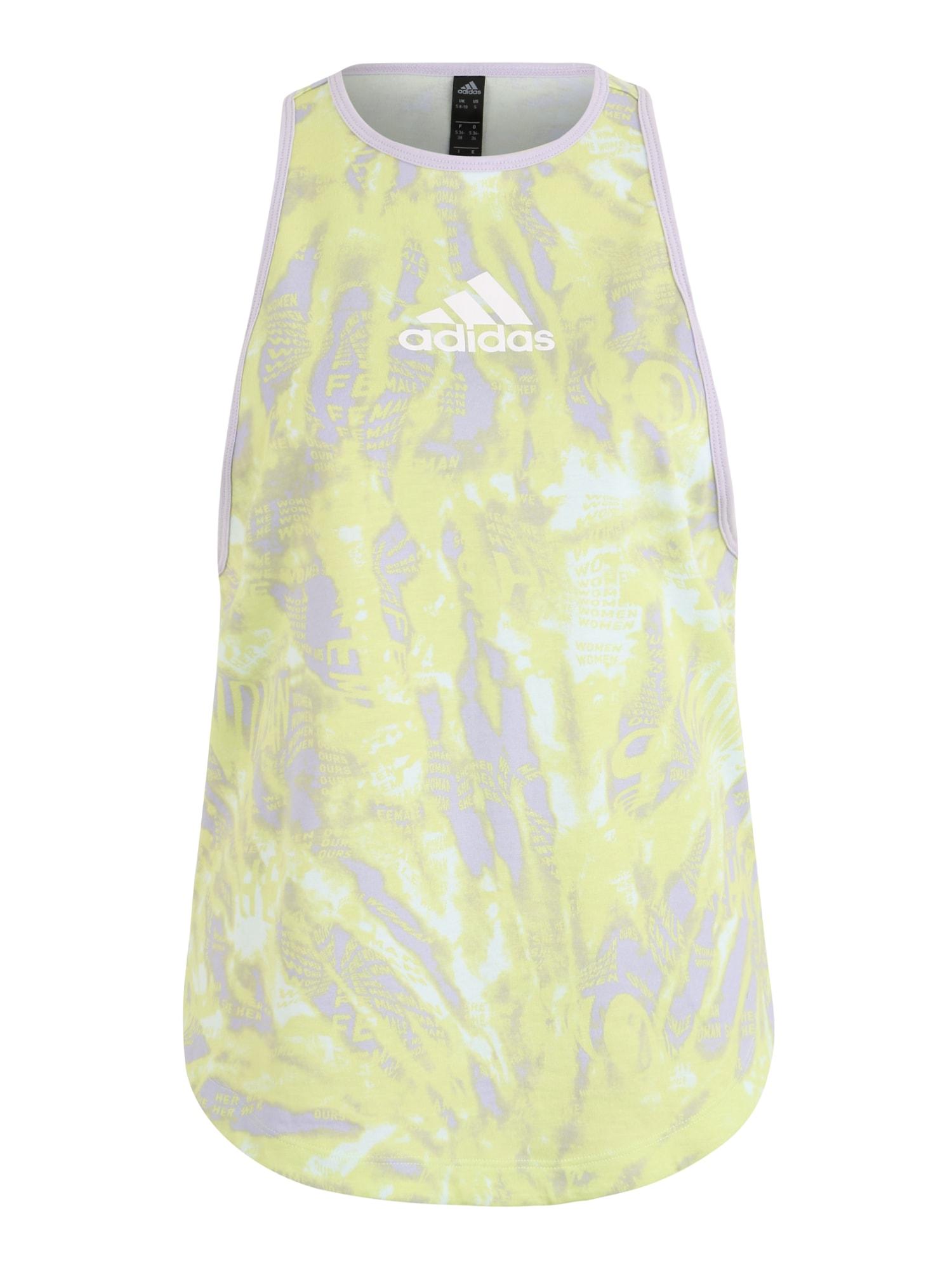ADIDAS PERFORMANCE Športový top  pastelovo fialová / svetložltá