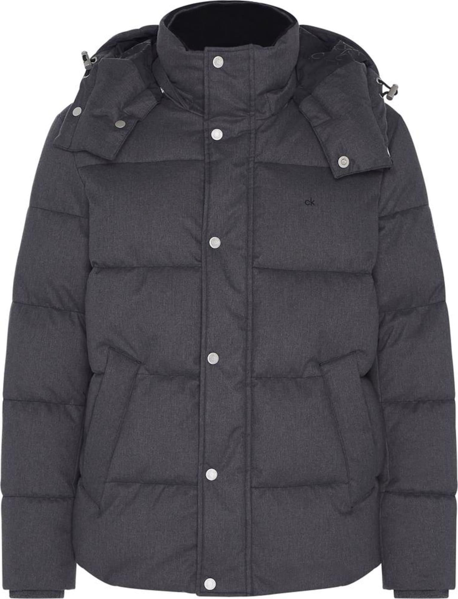 Calvin Klein Žieminė striukė juoda