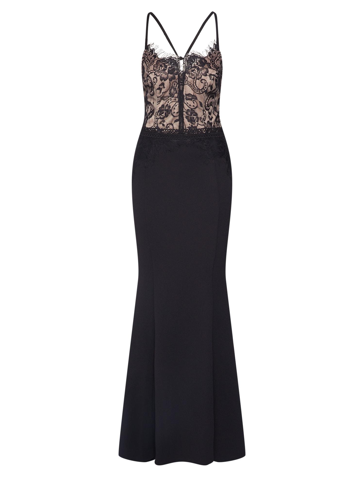 Lipsy Vakarinė suknelė smėlio / juoda