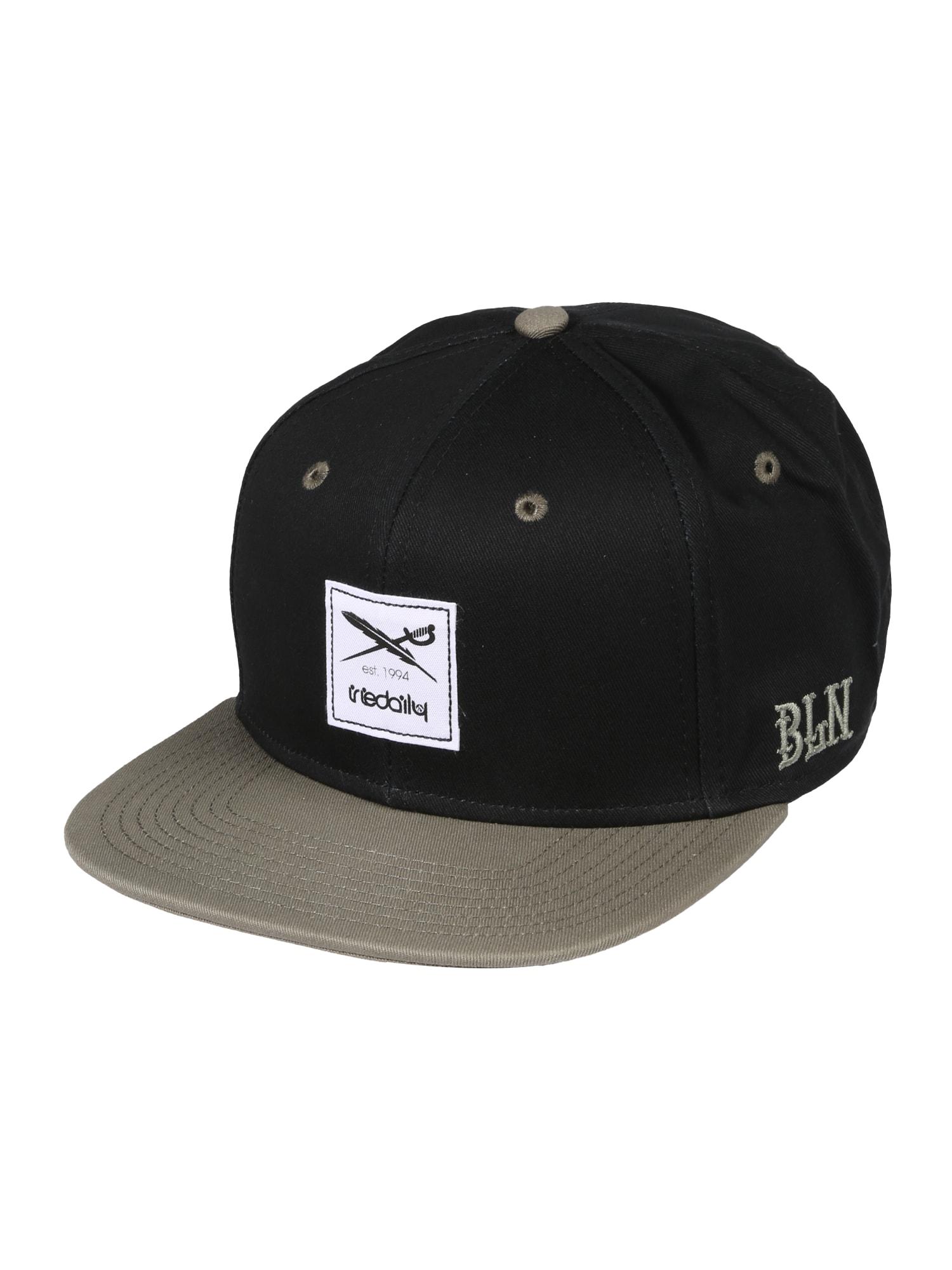 Iriedaily Kepurė 'Daily Contra' alyvuogių spalva / juoda