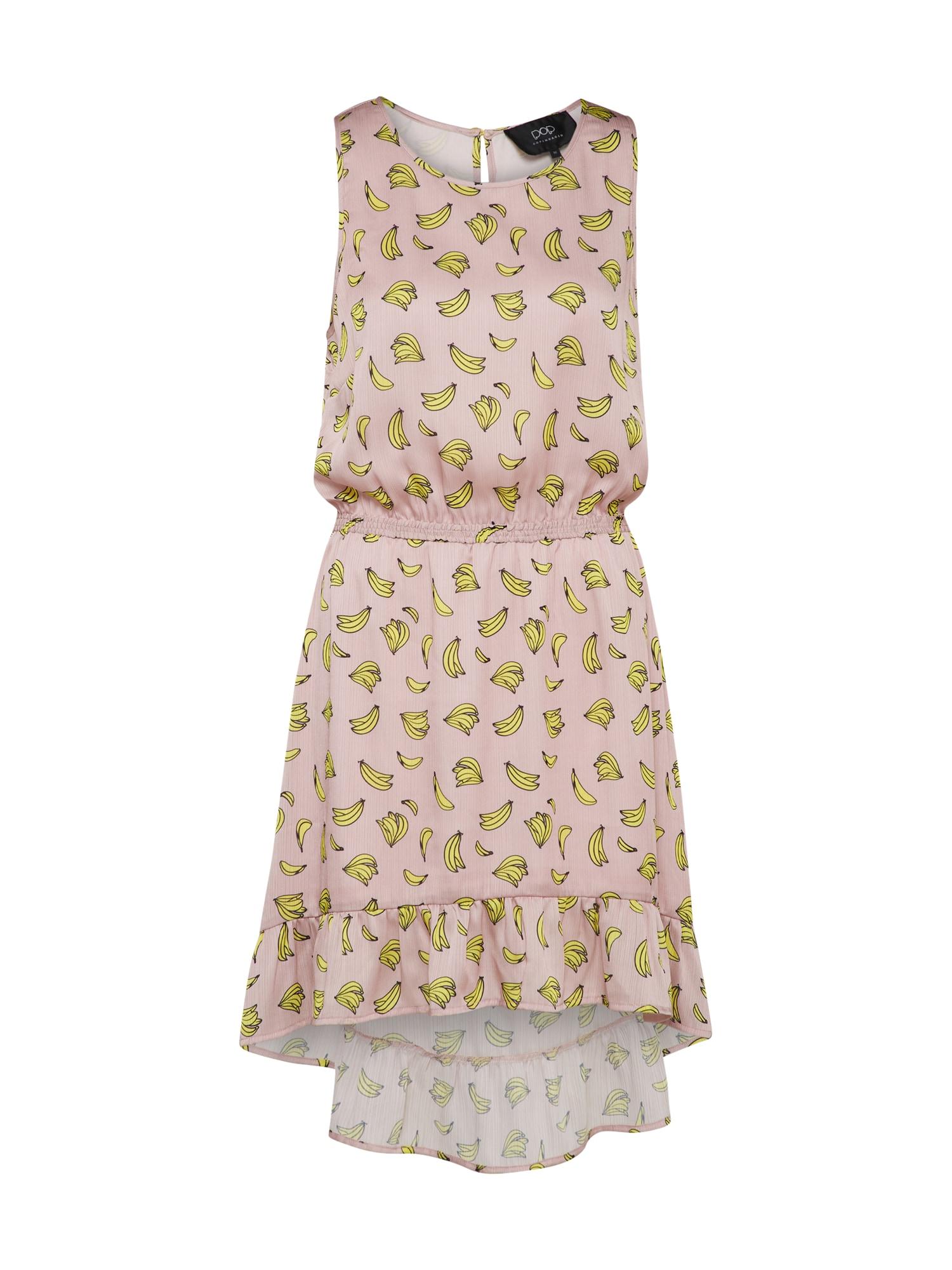 Šaty žlutá růžová Pop Copenhagen